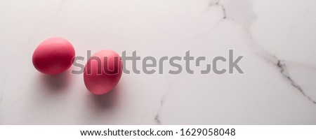 Ingredient, branding and diet concept - Egg on marble table as minimalistic food flat lay, top view food brand photography flatlay and recipe inspiration for cooking blog, menu or cookbook design