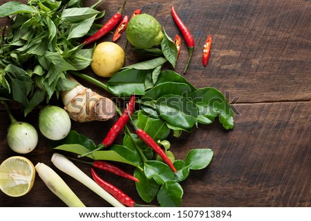 ingredient for thai food green curry