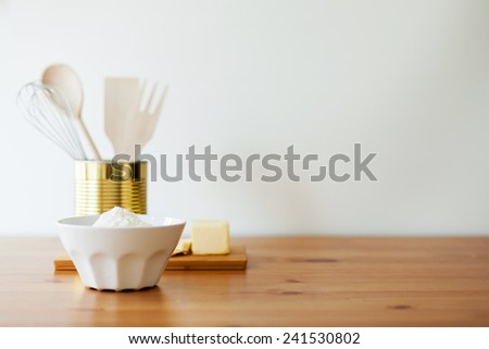 Ingredients for bake flour and butter #241530802