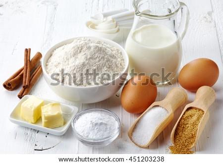 Ingredients for baking cake #451203238