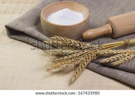 ingredients for bread preparation