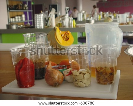 Ingredients for cooking class
