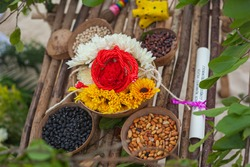 ingredients for mayan offering ceremony