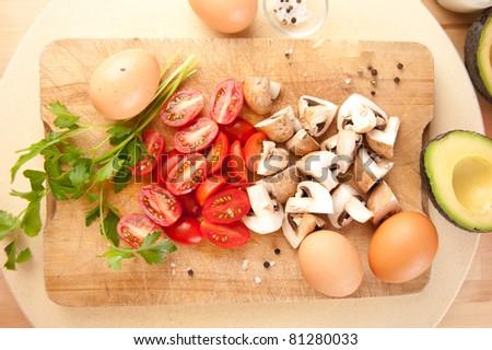 Ingredients for Vegetarian Omelet