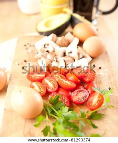 Ingredients for Vegetarian Omelete