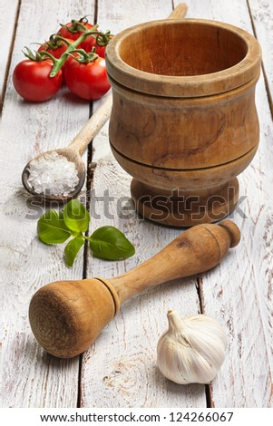 Ingredients to make pesto