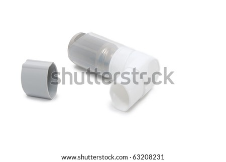 Inhaler with a cover on a white background