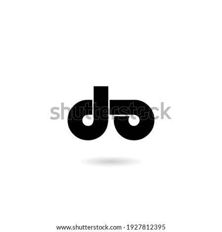 Initial Letter do Logo with shadow Foto stock ©