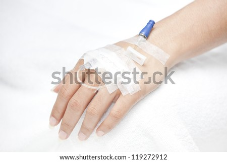 injection in hand