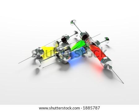 Injection, Syringe, medicine - stock photo
