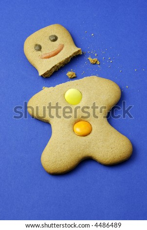 injured gingerbread man: broken neck