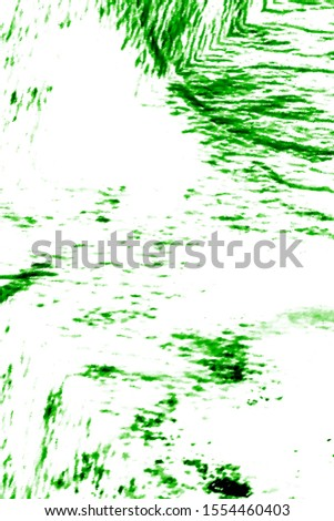 Ink Background Painting. Aquarelle Art. Paint Dye. Dyeing Abstract Template. Cute Hippie Dirty Art. Trendy Japan Cotton Template. Green, White Ink Background Painting.