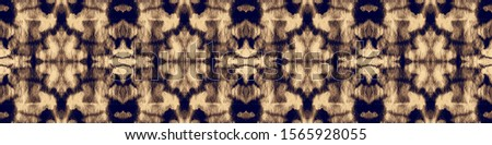 Ink Background Painting. Color Brushstroke. Tie Dye. Abstract Ethnic Artwork. Line Geometric Rustic Style. Indigo,Beige Boundless Abstract Painting. Blot Ink Background Painting.