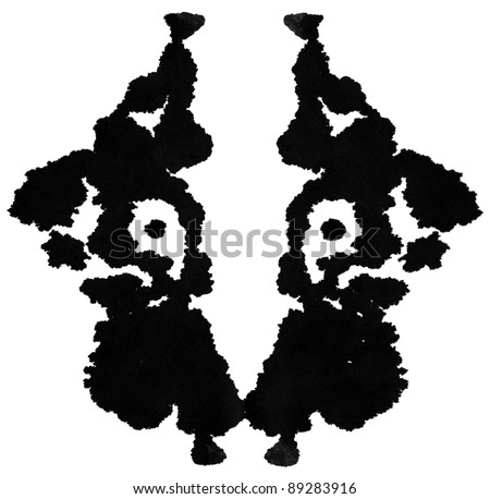 Ink blot for psychiatric evaluations.