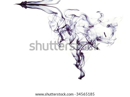 Ink in water. Isolated on white background