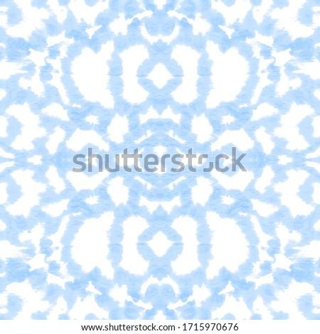 Ink Japanese Art. Color Brushstroke. Shibori Print. Azure,White Boho Abstract Painting. Infinite Hippie Canvas. Ink Folk Style. Artistic Backdrop. Mess Ink Japanese Art.