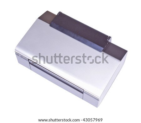 Ink jet printer isolated over white