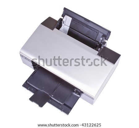 Ink-jet printer isolated over white