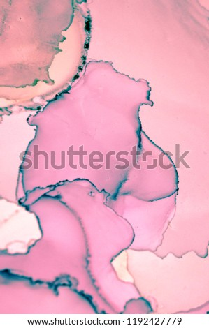 Ink, paint, abstract. Closeup of the painting. Colorful abstract painting background. Highly-textured oil paint. High quality details. Alcohol ink modern abstract painting, modern contemporary art.