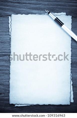 ink pen on parchment background texture