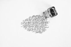 ink pot and calligraphy