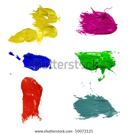 Ink splats grouped and to be used as brushes - stock photo