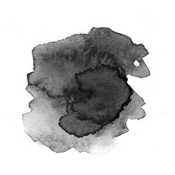 Ink Spreading, black Water color spot with blurring