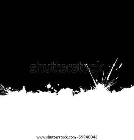 Ink-stained edge background with space for text