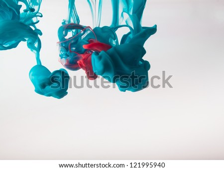 Ink swirling in water