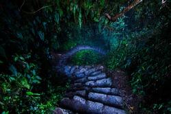 Inka Trail, Curved Stone Stair