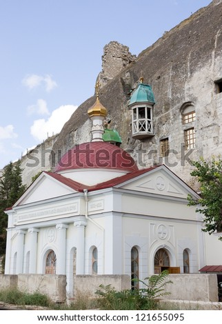 Inkerman cave monastery. Sevastopol,Crimea - stock photo