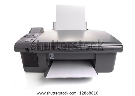 Inkjet printer with white papers. You can put your images