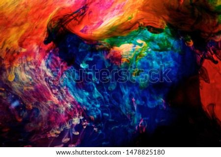 inks in water, color abstraction,color explosion, color motion