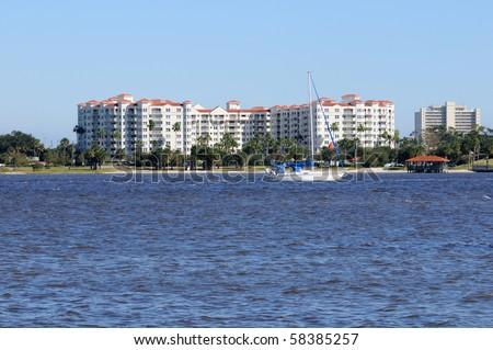 Inland waterway at Ormond Beach, Florida.