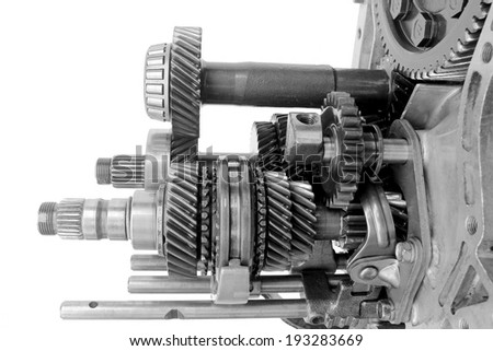 inner auto gearbox on isolated background