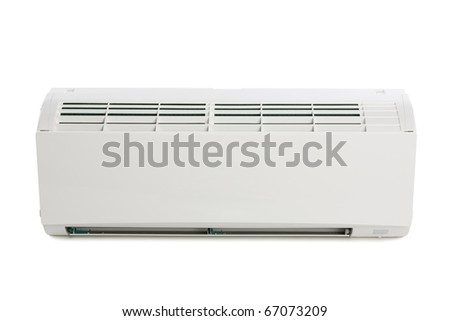 Inner block of a new air conditioner. Modern design.
