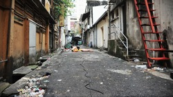 Inner City Alley Background