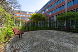 Inner courtyard of an office building