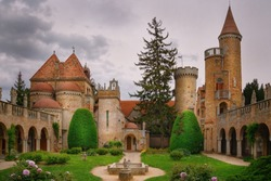 Inner Courtyard of Castle in Szekesfehervar, Hungary