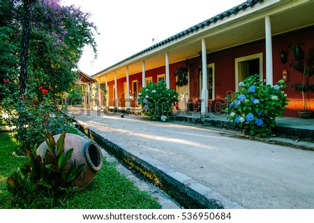 Inner courtyard of Chilean colonial house