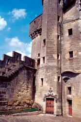 Inner courtyard of Loche Castle