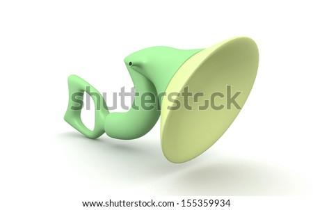inner ear isolated on white background
