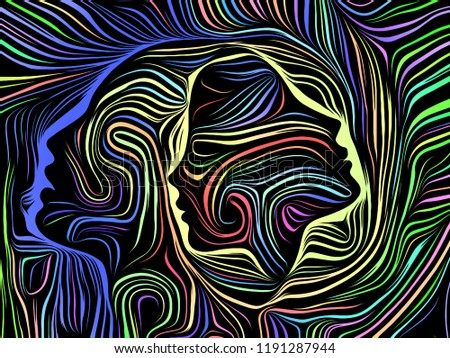 Inner Geometry series. Backdrop of  Human Face rendered in traditional woodcut style to complement your design on the subject of human soul, internal drama, art, poetry and spirituality