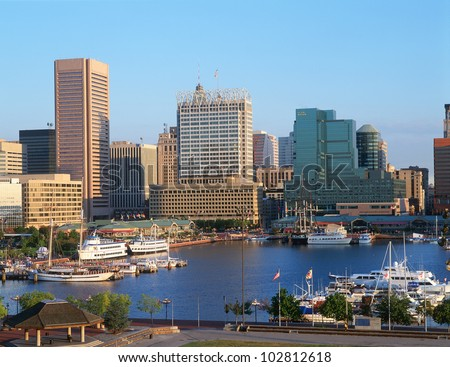 Inner harbor at Baltimore, Maryland