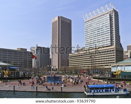 Inner Harbor in Baltimore, Maryland,