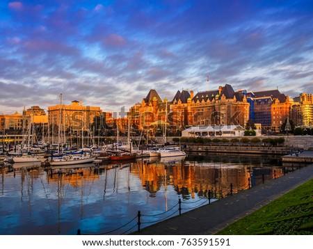 Inner Harbor of Victoria, British Columbia capital, Vancouver Island, Canada Сток-фото ©