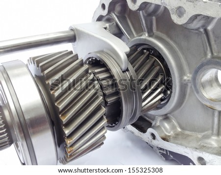 inner part of used gearbox