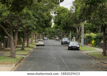 Inner Suburb Street in Melbourne Stockfoto ©