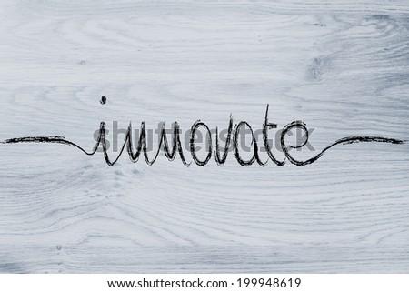innovate, minimalistic handwriting calligraphy