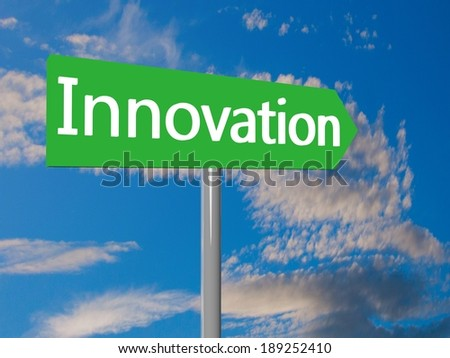 stock-photo-innovation-ahead-green-cartel-with-cloudy-sky-on-the-background-189252410.jpg